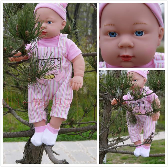 51CM Baby Kids Reborn Baby Doll Soft Vinyl Silicone Lifelike bathe Newborn Baby Toy for Boys Girls Birthday Gift