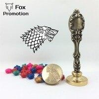 Game Of Thrones STARK Wax Seal Stamp Metal Handle With 50PCS Wax Scrapbooking DIY Ancient Seal
