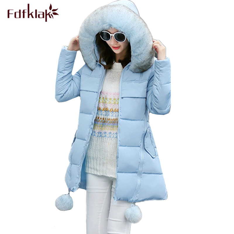 Fdfklak Plus size clothes for pregnant women hooded thick pregnancy jacket long winter coat maternity jackets female parka M-5XL gkfnmt winter jacket women 2017 fur collar hooded parka coat women cotton padded thicken warm long jacket female plus size 5xl