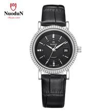Mujeres correa de cuero relojes de primeras marcas de lujo de Negocios reloj de cuarzo deportivo dashboard Impermeable relogio feminino damas 2004PV