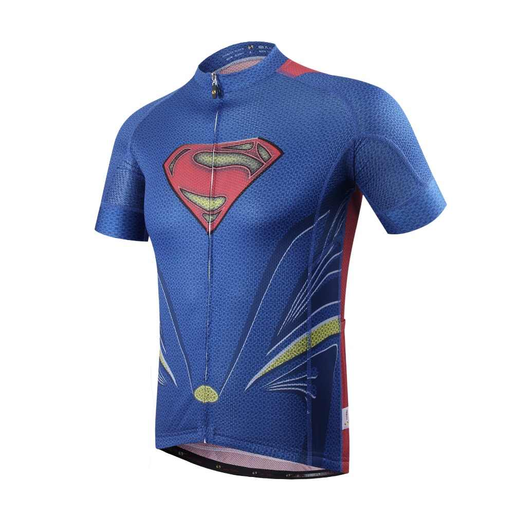 Hot Sale superman Cycling Jerseys Pro Ropa Ciclismo spiderman Cycling  Clothing Quick-Dry a852ee685