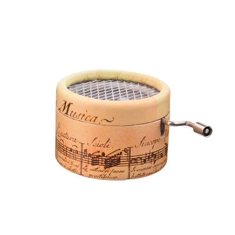 Laadukas käsi-cranked musiikkilaatikko suosittu luotu-tyyli tehdä hauska lahja nauttia satunnaisia lauluja hieno muotoilu musiikki laatikko