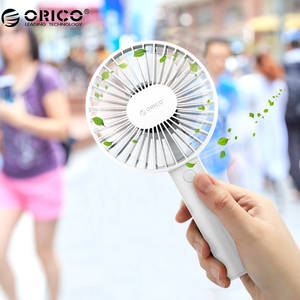Orico Portable USB Fan Mini Gadgets Cool Handy Flexible Fan with 3 Speed USB Light for Home Desk Office Gadgets Outdoor Travel