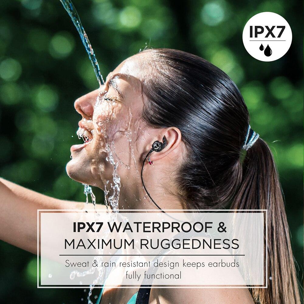 Image 2 - Original Mpow S11 IPX7 Waterproof Bluetooth 5.0 Earphone Magnetic  Earbuds Aptx Sport Earphones With 9 Hours Playtime For PhoneBluetooth  Earphones