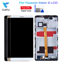 Original For Huawei Mate 8 LCD Display Touch Screen Digitizer Assembly With Frame For Huawei Mate 8 LCD Screen +Tools 10pcs free dhl shipping alibaba china highscreen for huawei mate 7 lcd display and touch screen with frame assembly