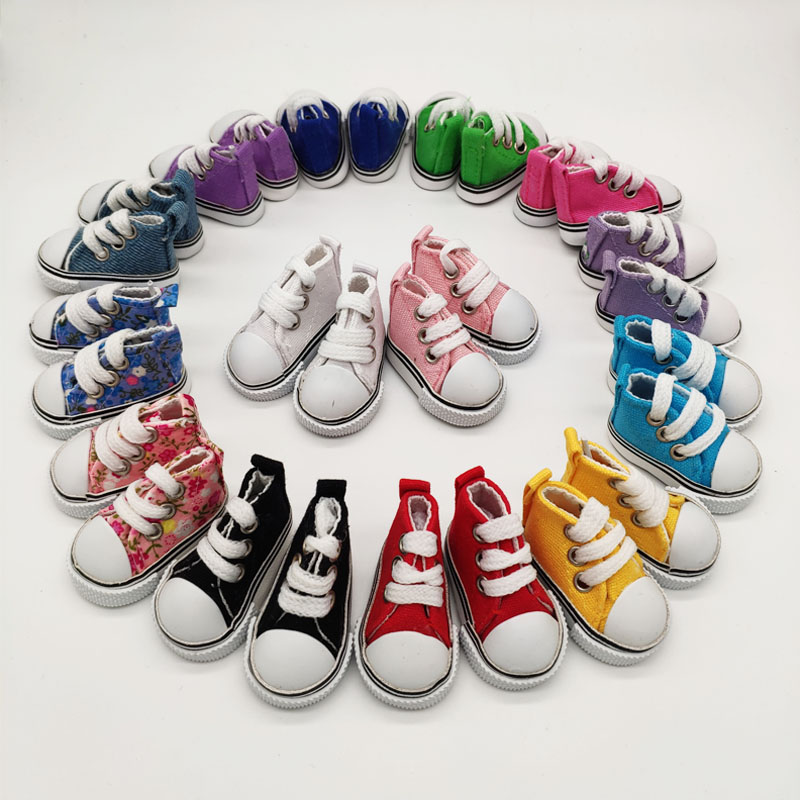 50Pairs/lot Wholesale SD BJD Doll Accessories 5CM Canvas Shoes For BJD Dolls