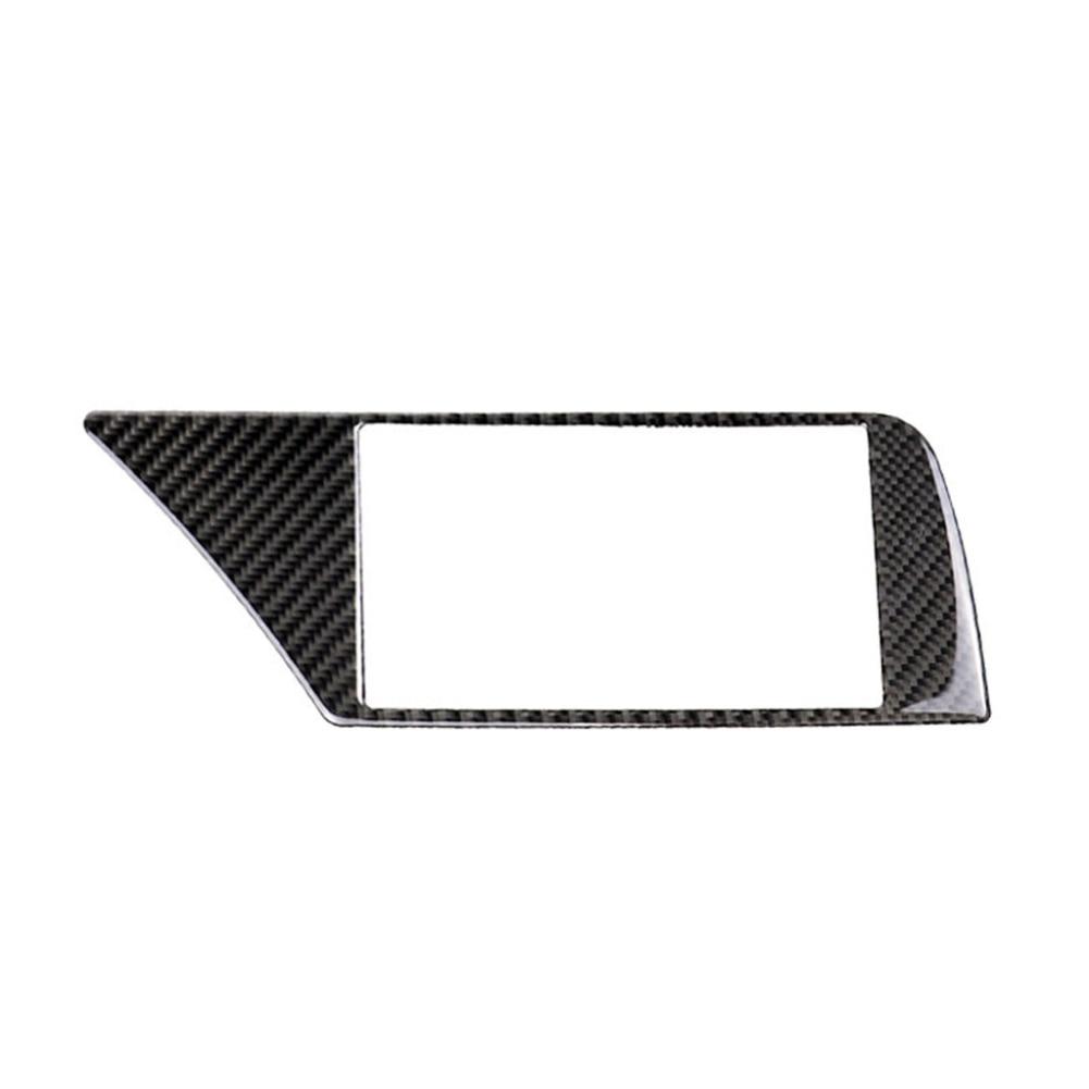 רשימת הקטגוריות Carbon Fiber ניווט לרכב מסך מסגרת כיסוי מדבקה עבור אאודי A4 B8 09-16 (2)