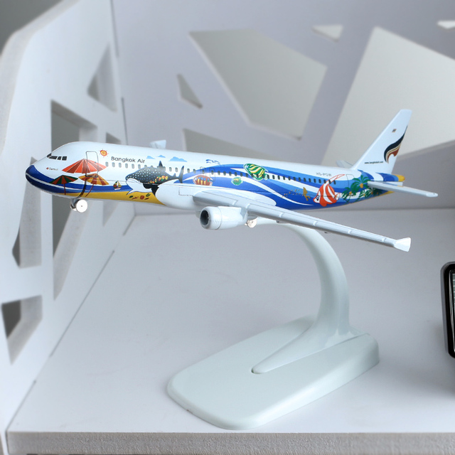 16cm 1:400 Bangkok Airline A320 Airbus Plane Model Alloy Model Thailand Aviation Model Aircraft Scale Model Airplane Collectible
