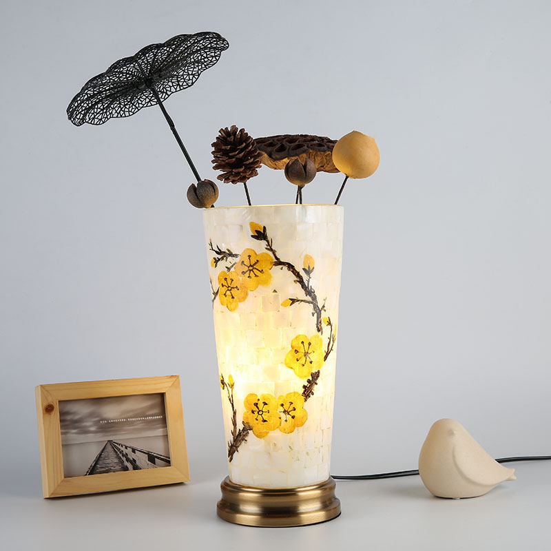 Modern Brief Glass Flower Table Lamps Designs Bedside Lamp Art Decorative Lights Desk Lamp Led Table Lamps for Living Room 220V купить