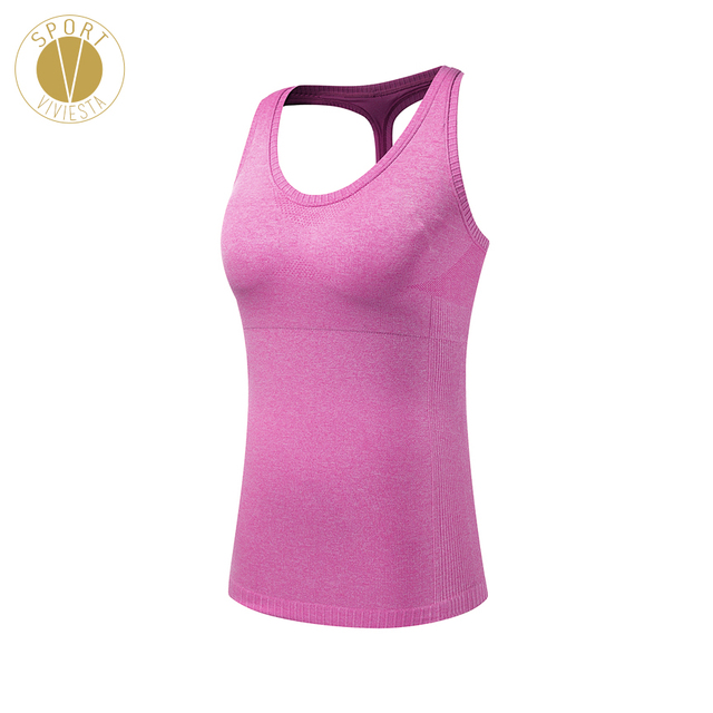 2427cf3ca694e Sports Bra Tank Top With Pads - Women s Famous Active Brand Yoga Gym  Training Running Light Tight Sleeveless Shirt Bra Vest Top