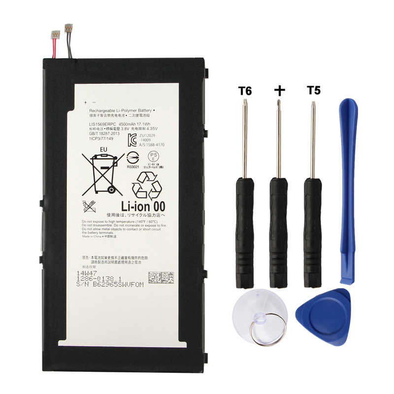 Original Z3 Tablet Battery for Sony SONY Xperia LIS1569ERPC 4500mAh