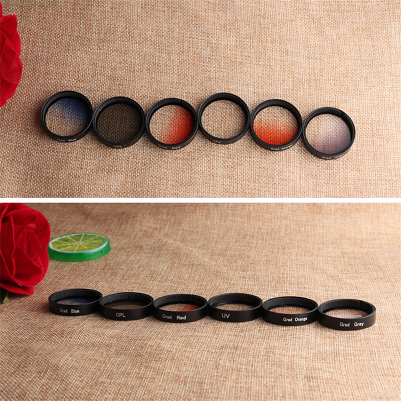 CAENBOO Lens Filter For DJI Phantom 4/3 Pro Professional Advanced SE Graduated Red Gradient Blue Gradual Orange UV CPL Filter
