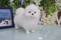 cute simulation white dog toy polyethylene&furs chow chow model gift about 20x9x16cm 2891