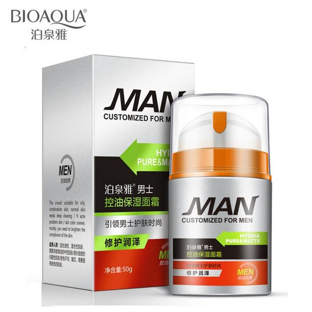 H2o8 homens marca de cuidados da pele profunda clareamento hidratante hidratante de controle de óleo creme facial Anti envelhecimento Anti rugas creme de dia 50 g