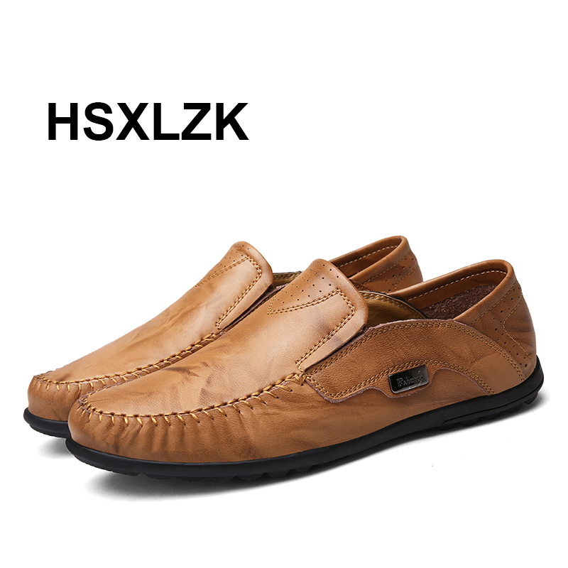 fashion loafers 2017 casual boat shoes genuine leather