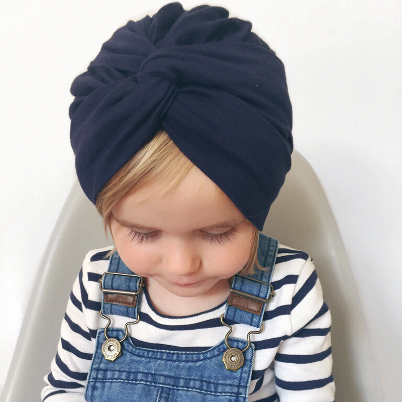 New Knot Girls Hat Cotton Soft Baby Cap India Style Kids Caps Beanies f86f90af948