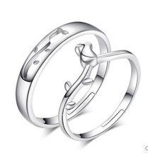 Ajustable Anéis Casal Definidos para As Mulheres Amantes de Casamento de Flores frescas 2 Pcs Acessórios do Presente Do Dia Dos Namorados