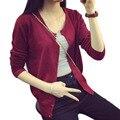 Cardigans Sweaters For Women Slim Knitwear Casual Black Long Sleeve Cardigan O-Neck Sweater MY087