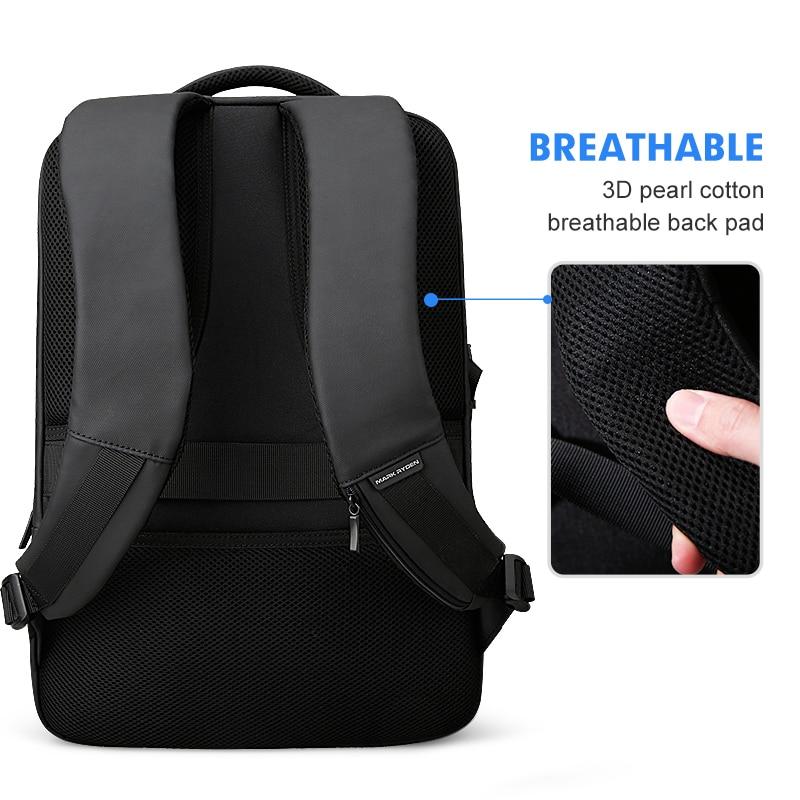 Mark Ryden 2019 homme sac à dos multifonctionnel étanche 15.6 pouces ordinateur portable multi-couche poches sac homme USB charge école sac à dos - 3