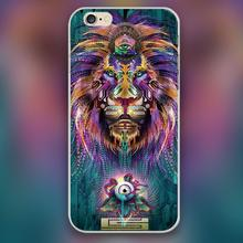 The colorful king of lion art head Design case cover cell mobile phone cases for Apple