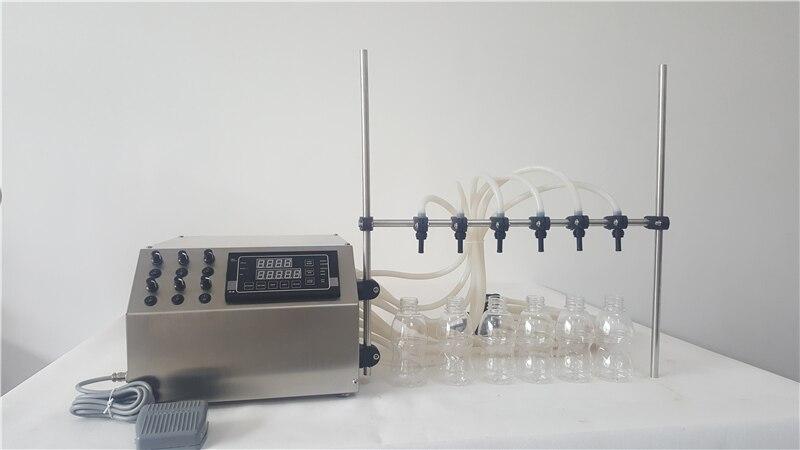Máquina de enchimento de óleo comestível, modelo da bomba de diafragma de enchimento com 6 bicos de perfume máquina de enchimento de 3 ml a 4000 ml por minuto