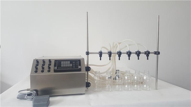 Machine de remplissage d'huile comestible, pompe à membrane modèle de remplissage avec 6 buses de 3 ml pour 4000 ml par minute machine de remplissage de parfum