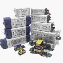 Sterownik LED mocy zasilania 1W 3W 5W 10W 20W 30W 36W 50W 100 W 300mA 600mA 1 3 5 10 30 50 100 W wat transformatory oświetleniowe wodoodporna