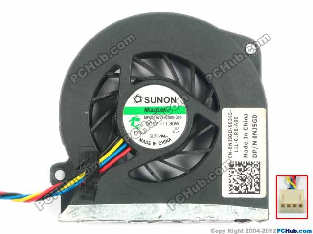 electrolux ehs 60140 x Free shipping for SUNON MF60140V1-C000-S99, DP/N: 0NJ5GD, NJ5GD DC5V 1.8W 4-wire 4-pin Server Laptop Fan