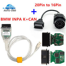 Für BMW INPA K + KANN Plus 20pin zu 16pin OBD2 Adapter K DCAN INPA Mit FT232RL Chip K DCAN USB Interface Anschluss für BMW 20Pin