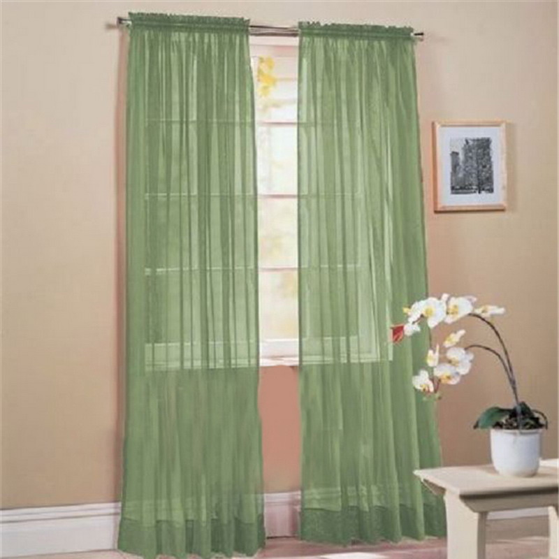 15 Colors Curtains For living Room 1PC Home Hotel Office Bedroom ...