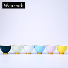 6 Color Chinese Colourful  Teacups Ceramic Tea Cup Teacup Bowl China teaset Hi-Q High Quality (China Chaozhou)