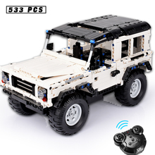 533pcs Technic Enlightenment Series Toy Car Model Building Blocks Set Remote Controlled SUV Compatible Small Brick for Children technic series 42065 radio controlled tracked racer set race car tank legoinglys building block brick toy technic lepin 20033
