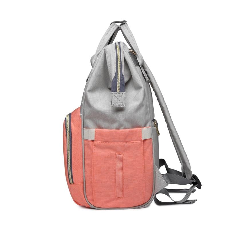 Fashion Mummy Striped Maternity Nappy Bag Large Capacity Baby Bag Bolsa Maternidade Designer Nursing Bag For Mother Baby Diaper
