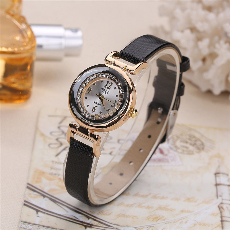 Fashion Watches Women Elegant Diamond Small Dial Casual Watch Quality Women Quartz Wristwatch Female Clock Relogio Feminino #C