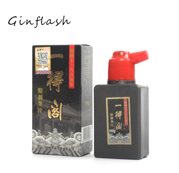 100g Calligraphy ink for Woolen & Weasel hair Writing Brush Chinese black Painting ink Calligraphy Brush ink drawing set ACS005 kiwarm useful durable bear hair chinese calligraphy japanese kanji drawing brush bamboo shaft calligraphy brush for art painting