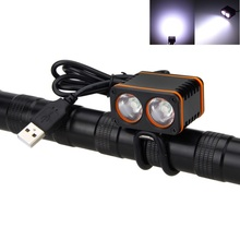 USB Charing LED Bike Light 1000 LM 2*XM-L T6 LED Front Bicycle Light Cycling Head Lamp Headlamp Beam Range 200m No Battery цена 2017