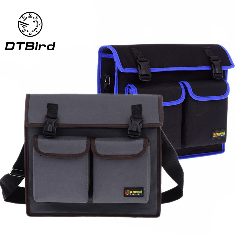 Multifunctional Single Shoulder Bag Hardware Electrician Toolkit Tool Bag Waterproof Wear-Resistant Oxford Cloth 35x28x11.5cm