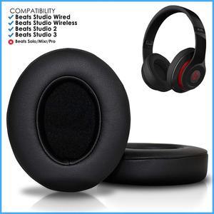 Image 5 - Almofada de substituição para fones de ouvido wantek beats, compatível com fones de ouvido b0500/studio o3/com fio b0501, preto preto