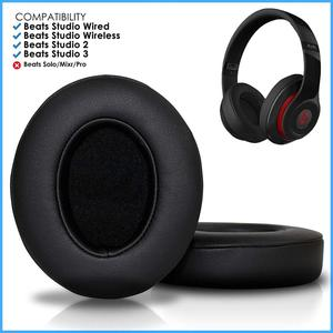 Image 5 - Wantek Beats Replacement Ear Pads Cushion Compatible with Beats Studio2 and Studio3/Wired B0500/Wireless B0501 Headphones, Black