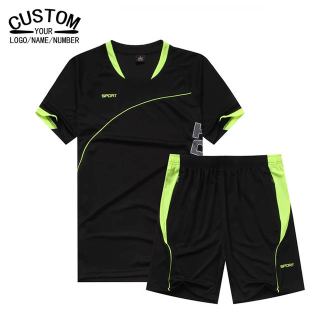 20ea9ef8d placeholder Mens Soccer Jersey Set Boys Short Sleeve Training Football Kit  2017 Football Shirts Form 2017 Set