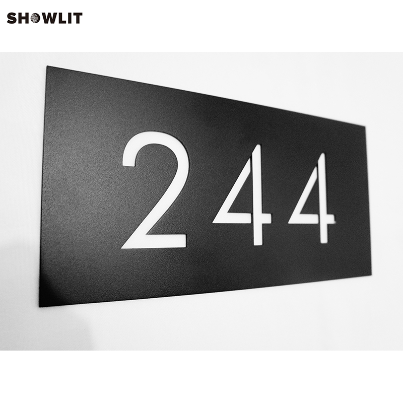 CUSTOM Modernist Door Number Plaque In Power Coated Metal цена