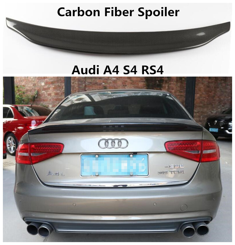 Carbon Fiber Spoiler For Audi A4 S4 RS4 2009 2019 High Quality Spoilers Auto Accessories By EMS|Spoilers & Wings|   - title=