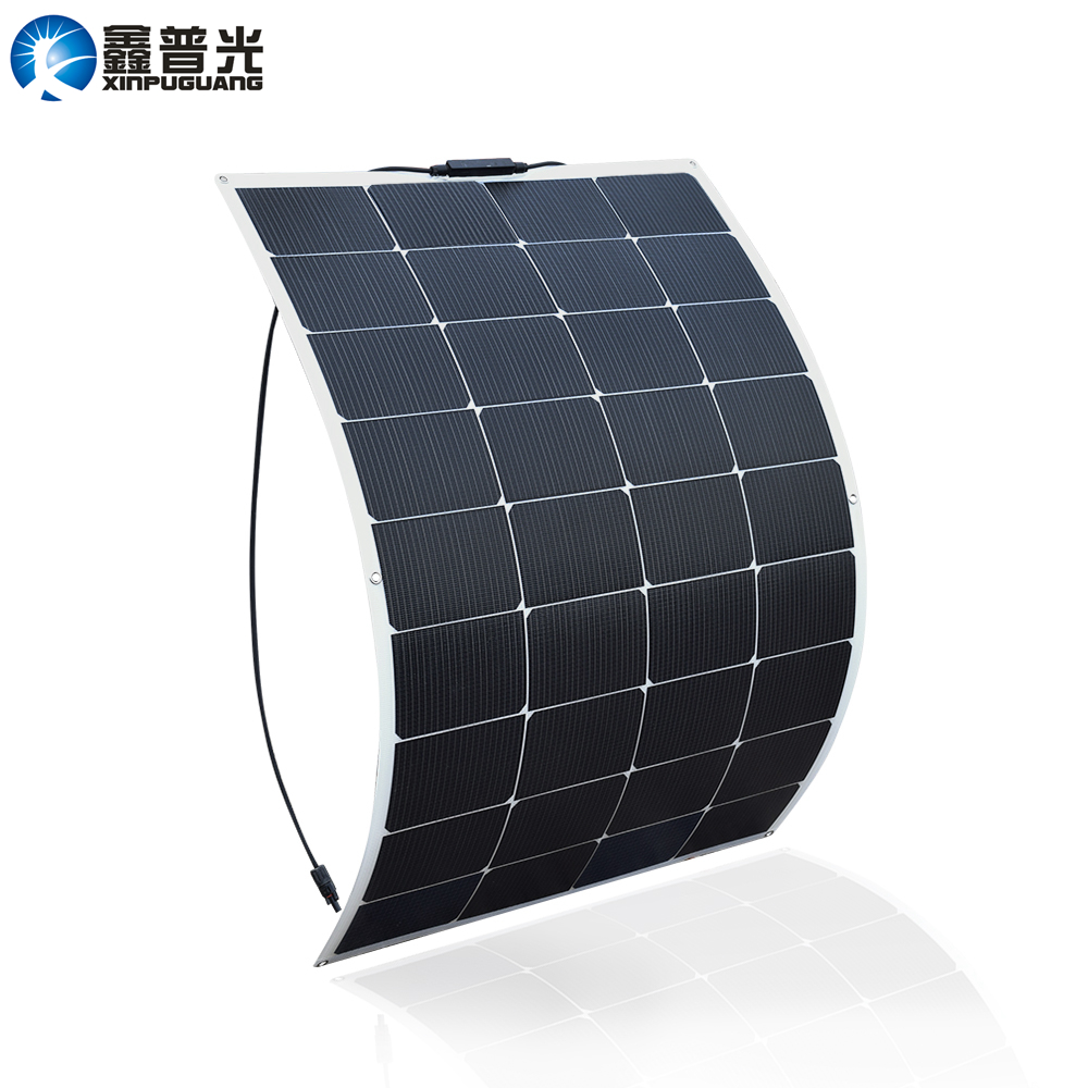 Xinpuguang Solar Panel Battery Flexible 115W 18V 100W New Efficient Solar Cell for 12V System DIY RV Car Marine Boat Home Charge