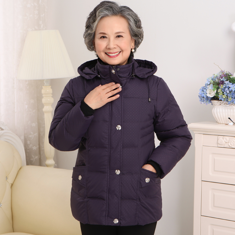 2017 70-year-old 80-year-old middle-aged women down thickening elderly mothers winter jacket old lady grandmother clothing the little old lady in saint tropez