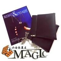 Anel e uma corrente de astor magia/rua mágica close-up truque de mágica
