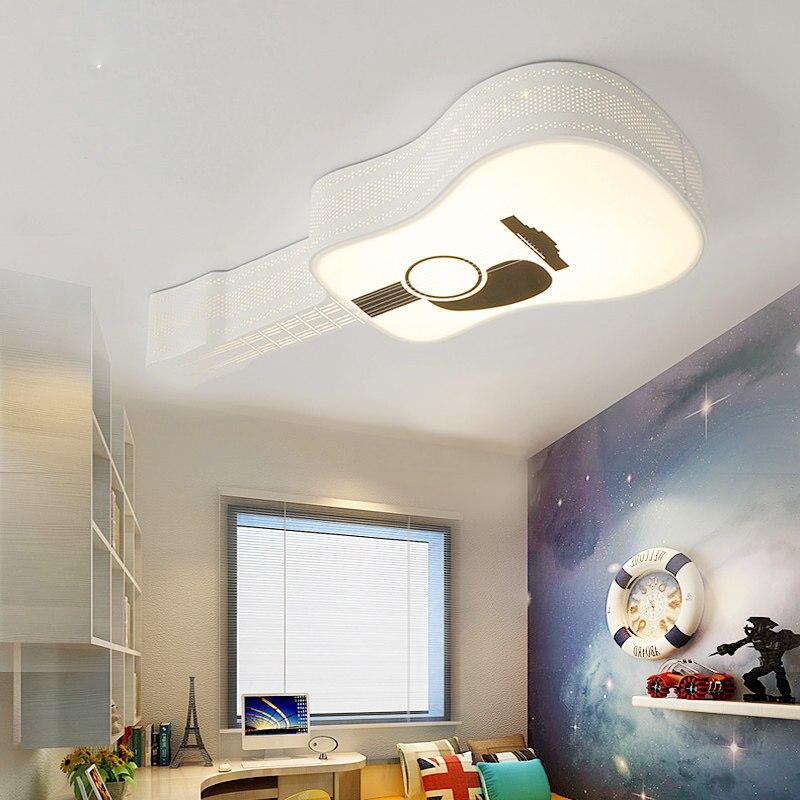 Ceiling Lights white color creative personality Indoor Lighting Ceiling Lamp Fixture Living Room Bedroom Guitar corridor lamp
