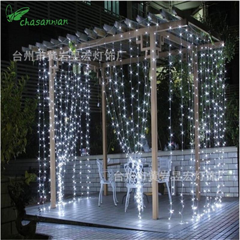 Christmas Sale 3Mx3M 304Led Curtain String Lights EU 220V Xmas Garland Led Lights for Party ...