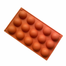 1pc Hemisphere Shpae Silicone Mold 15-cavity Mousse Cake Dessert Tools Half Ball Mould for Baking