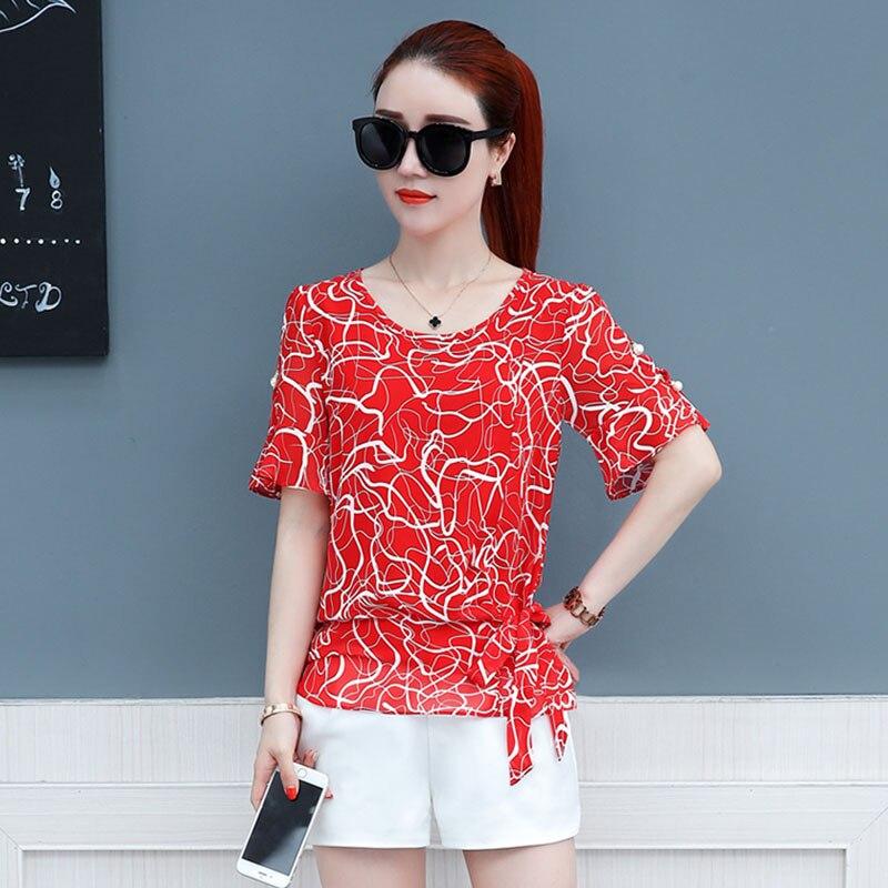 Brand New Design Women Spring Summer Style Chiffon Blouses Shirts Lady Girls Casual Bow Tie Decor Blusas Tops Feminina DF1630