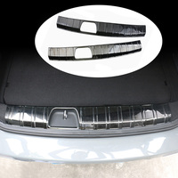Car Stainless Steel Rear Bumper Trunk Fender Sill Plate Protector Scratch Guard Trim Cover Sticker For